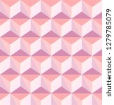 pink soft color triangle 3d... | Shutterstock .eps vector #1279785079