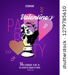 valentines day party flyer... | Shutterstock .eps vector #1279785610