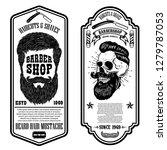 barber shop flyer template....   Shutterstock .eps vector #1279787053