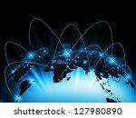 best internet concept of global ...   Shutterstock . vector #127980890