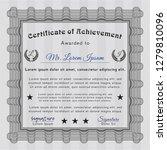 grey certificate of achievement ... | Shutterstock .eps vector #1279810096