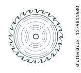 circular saw blade. carpentry... | Shutterstock .eps vector #1279811680