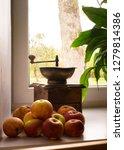 wooden vintage manual coffee... | Shutterstock . vector #1279814386