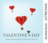happy valentine's day greeting... | Shutterstock .eps vector #1279815640