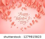 valentine postcard with paper... | Shutterstock .eps vector #1279815823