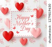 happy mother's day with flowers ... | Shutterstock .eps vector #1279819630