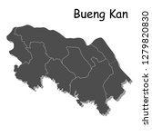 high quality map of bueng kan ... | Shutterstock .eps vector #1279820830