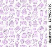 sweet food seamless pattern... | Shutterstock .eps vector #1279820980