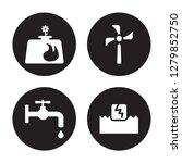 4 vector icon set   biogas ... | Shutterstock .eps vector #1279852750
