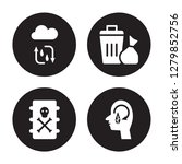 4 vector icon set   water cycle ... | Shutterstock .eps vector #1279852756
