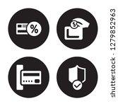 4 vector icon set   loyalty... | Shutterstock .eps vector #1279852963