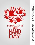february 12  red hand day or... | Shutterstock .eps vector #1279860673