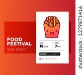 food festival app design with...