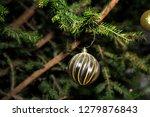 fir branch with balls and... | Shutterstock . vector #1279876843
