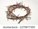 crown of thorns from iron... | Shutterstock . vector #1279877350