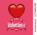 happy valentines day card with...   Shutterstock .eps vector #1279882489