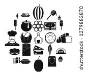 executive chef icons set....   Shutterstock .eps vector #1279882870