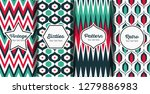 set of seamless striped retro... | Shutterstock .eps vector #1279886983