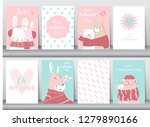 set of valentine's day card on... | Shutterstock .eps vector #1279890166