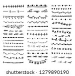 big set dividers. collection of ... | Shutterstock .eps vector #1279890190