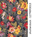 flowers pattern..for textile ... | Shutterstock . vector #1279893013