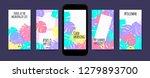 pastel tropic frames for... | Shutterstock .eps vector #1279893700