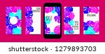 stories template design. tropic ... | Shutterstock .eps vector #1279893703