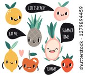 cute cartoon smile fruits...   Shutterstock .eps vector #1279894459