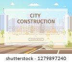 city construction horizontal... | Shutterstock .eps vector #1279897240