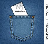 Jeans Pocket In Vector Eps 10.
