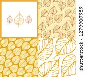 ornament with gold leaves... | Shutterstock .eps vector #1279907959