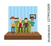group of men in the livingroom | Shutterstock .eps vector #1279915009