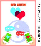 couple sweetheart  sent message ... | Shutterstock . vector #1279915456