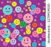 purple background smiley... | Shutterstock .eps vector #1279919020