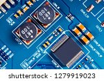 electronic circuit board close... | Shutterstock . vector #1279919023