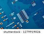 electronic circuit board close... | Shutterstock . vector #1279919026