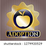 gold emblem or badge with... | Shutterstock .eps vector #1279920529