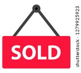 sold icon on white background....