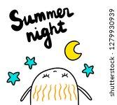 summer night hand drawn... | Shutterstock .eps vector #1279930939