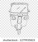 sketch of bajaj  one of... | Shutterstock .eps vector #1279935823