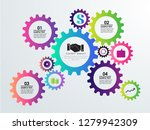 abstract business infographics...   Shutterstock .eps vector #1279942309