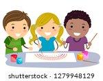 illustration of stickman kids... | Shutterstock .eps vector #1279948129