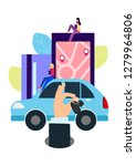 people and auto. making deals... | Shutterstock . vector #1279964806