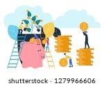 illustration  growing a flower ... | Shutterstock . vector #1279966606