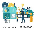 vector illustration  investment ... | Shutterstock .eps vector #1279968043
