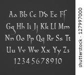 silver text alphabet on dark... | Shutterstock . vector #127997000