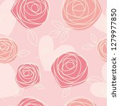 seamless pattern of hand drawn... | Shutterstock .eps vector #1279977850