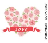 vector illustration of roses... | Shutterstock .eps vector #1279977859