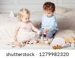 small children playing together ... | Shutterstock . vector #1279982320