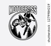 motocross design for clothing ... | Shutterstock .eps vector #1279984219